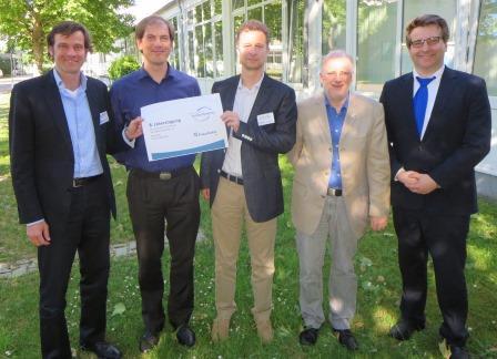 Der neue DGSD-Vorstand (v.l.n.r.): Prof. Dr. Florian Kapmeier, Tom Kühner, Prof. Dr. Andreas Größler, Hans Kasperidus,  Maximilian Happach