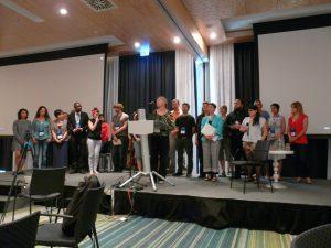 Foto (Hans Kasperidus): Teilnehmerinnen und Teilnehmer der Sommerschule stellen ihre Erfahrungen und Ergebnisse auf der ISSS-Konferenz vor